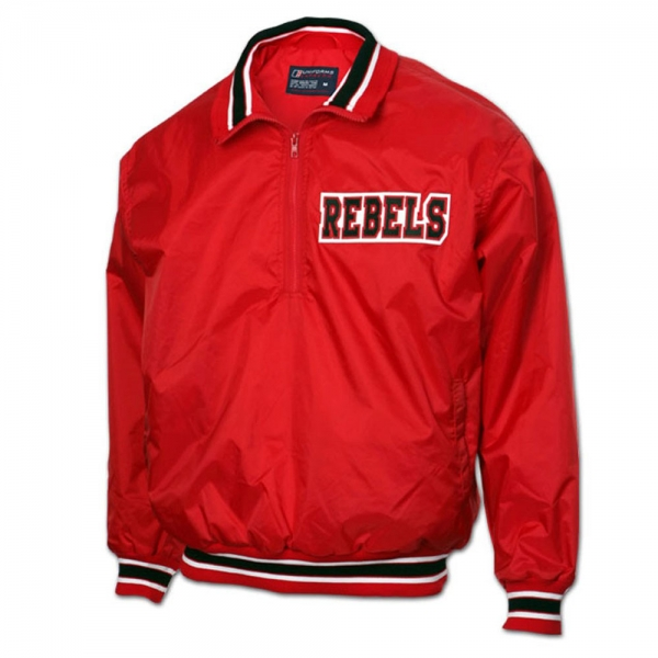 1/2 Zip-Pullover Baseball Jacket